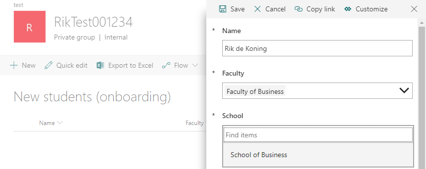 Creating conditional lookup columns in SharePoint with PowerApps