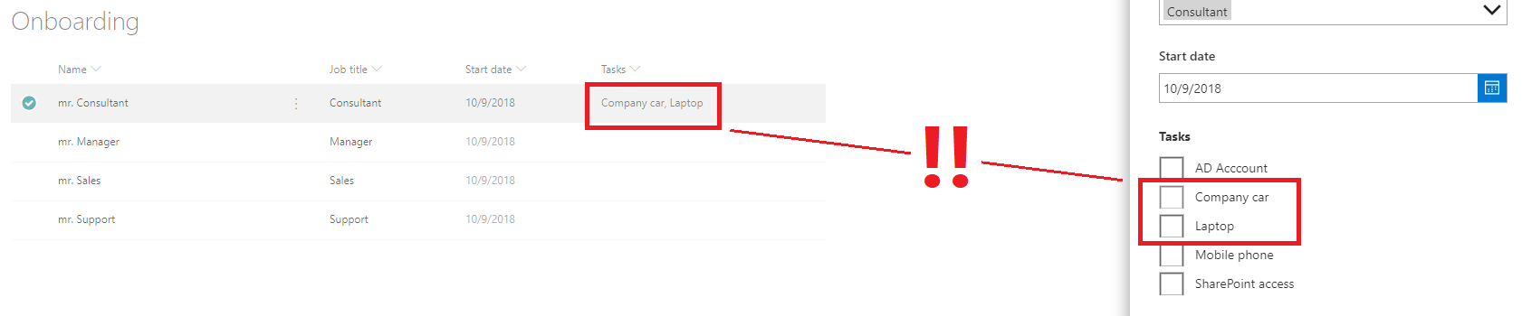 Integrating a checklist into your SharePoint item with PowerApps